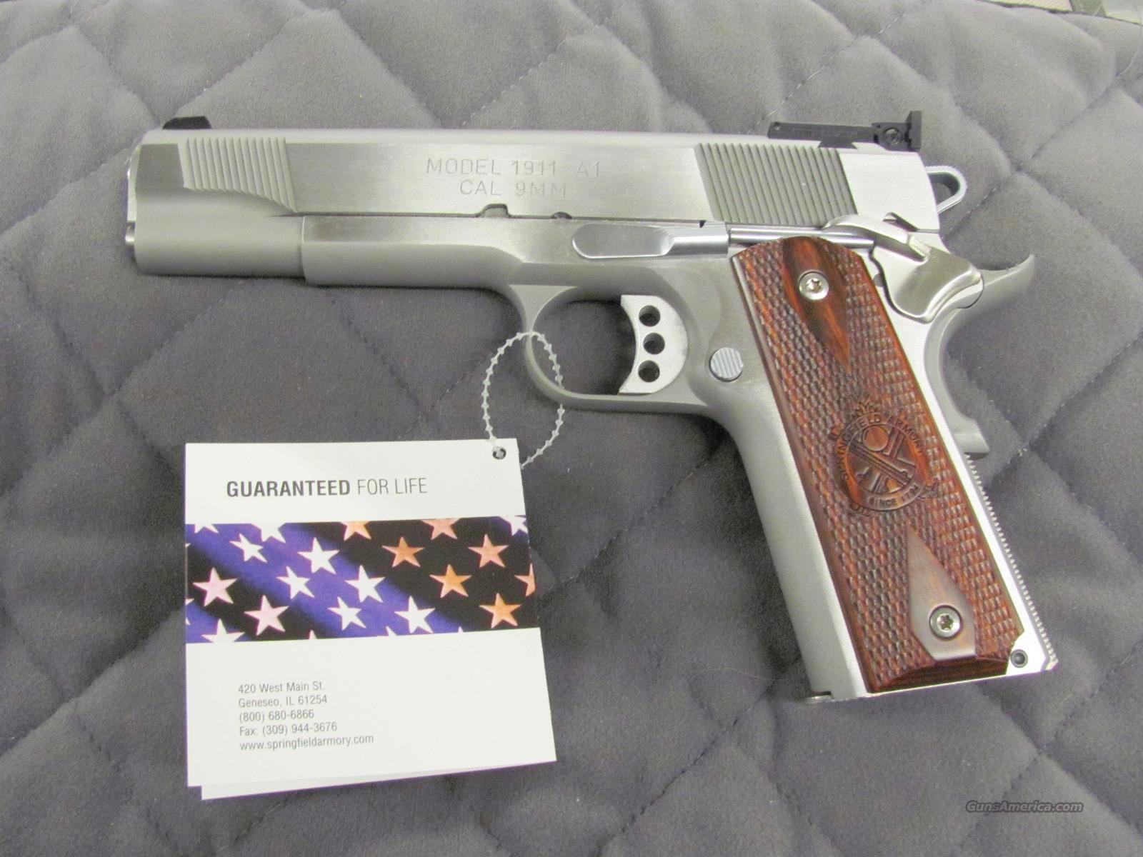 Springfield 1911 A1 Loaded 9 mm Stainless Target Sights  **NEW**  Guns > Pistols > Springfield Armory Pistols > 1911 Type