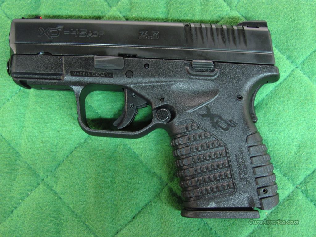 Springfield XDS Subcompact 45 acp XDS93345  **NEW**  Guns > Pistols > Springfield Armory Pistols > XDs