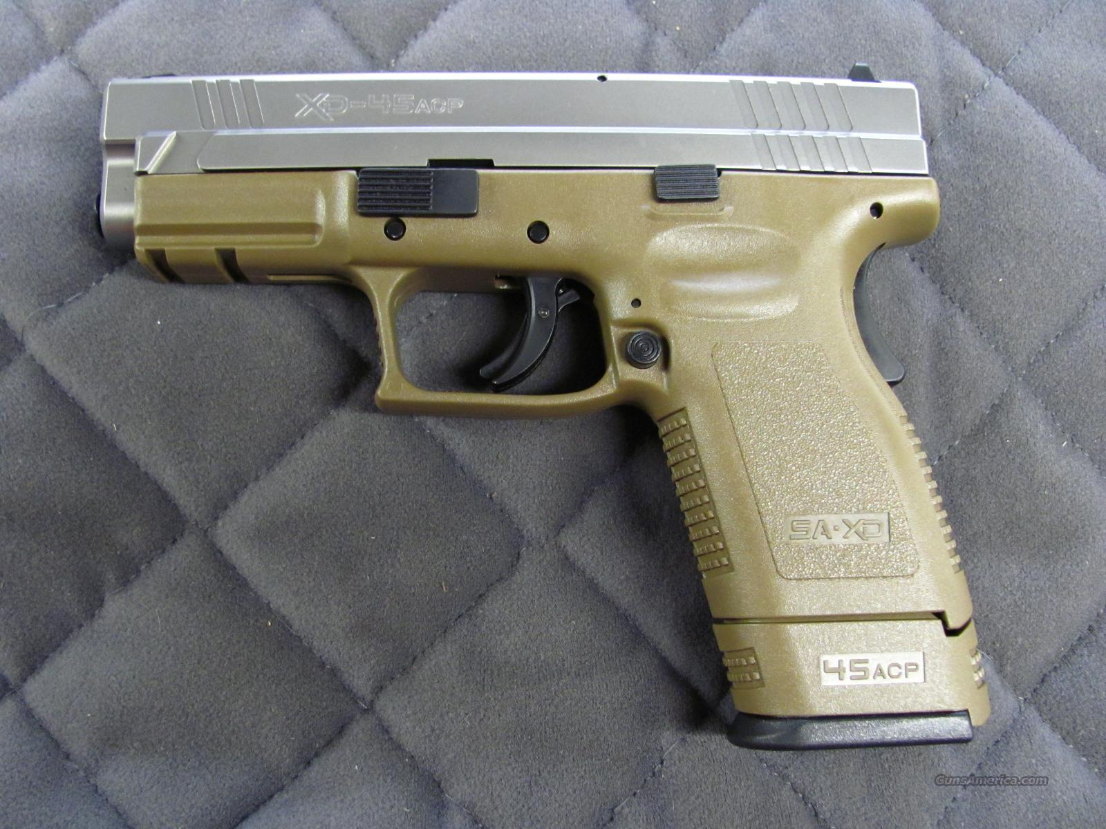 Springfield XD Compact 45 ACP Dark Earth Stainless  **NEW**  Guns > Pistols > Springfield Armory Pistols > XD (eXtreme Duty)