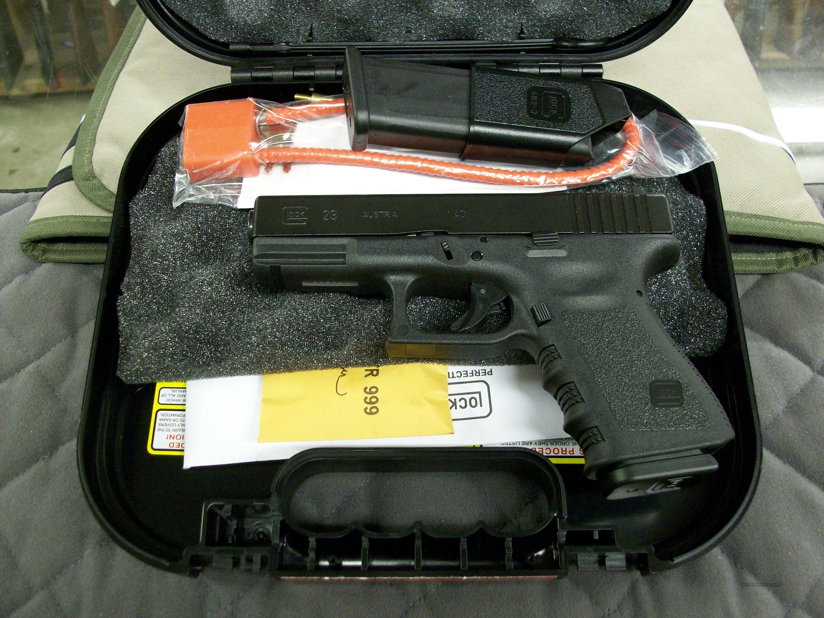 Glock 23 40 S&W Compact Made in USA  **NEW**  Guns > Pistols > Glock Pistols > 23