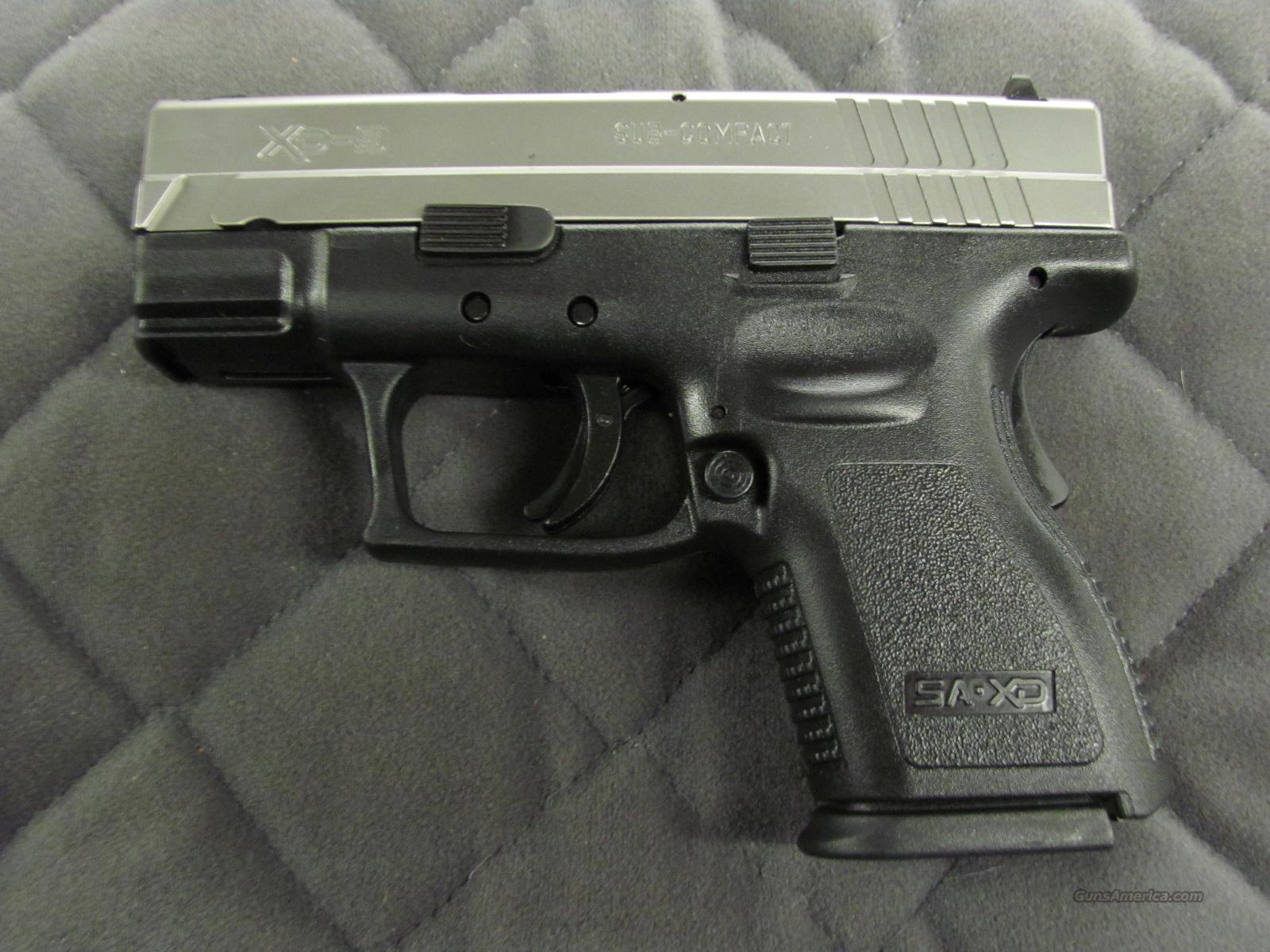 Springfield XD Sub-Compact 9 mm Bi-Tone  **NEW**  Guns > Pistols > Springfield Armory Pistols > XD (eXtreme Duty)