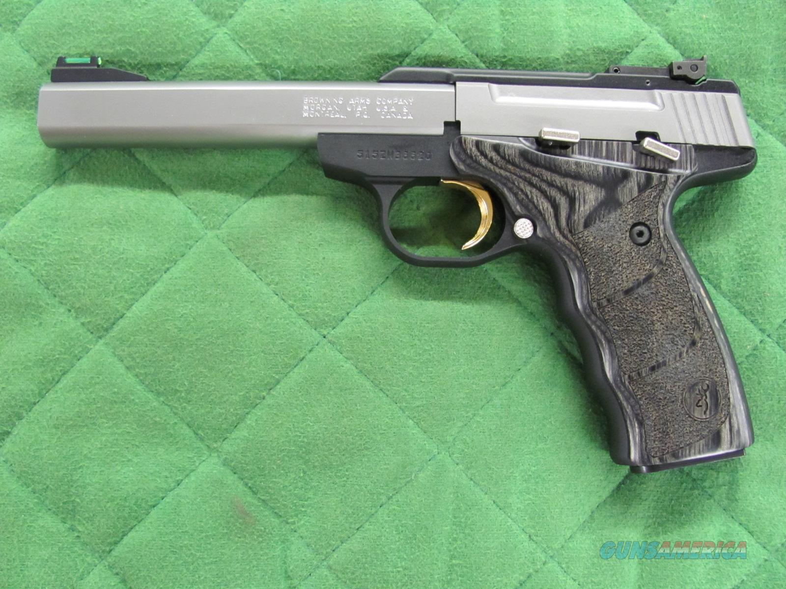 Browning Buck Mark Plus Stainless Black Laminated UDX 22 lr  **NEW**  Guns > Pistols > Browning Pistols > Buckmark