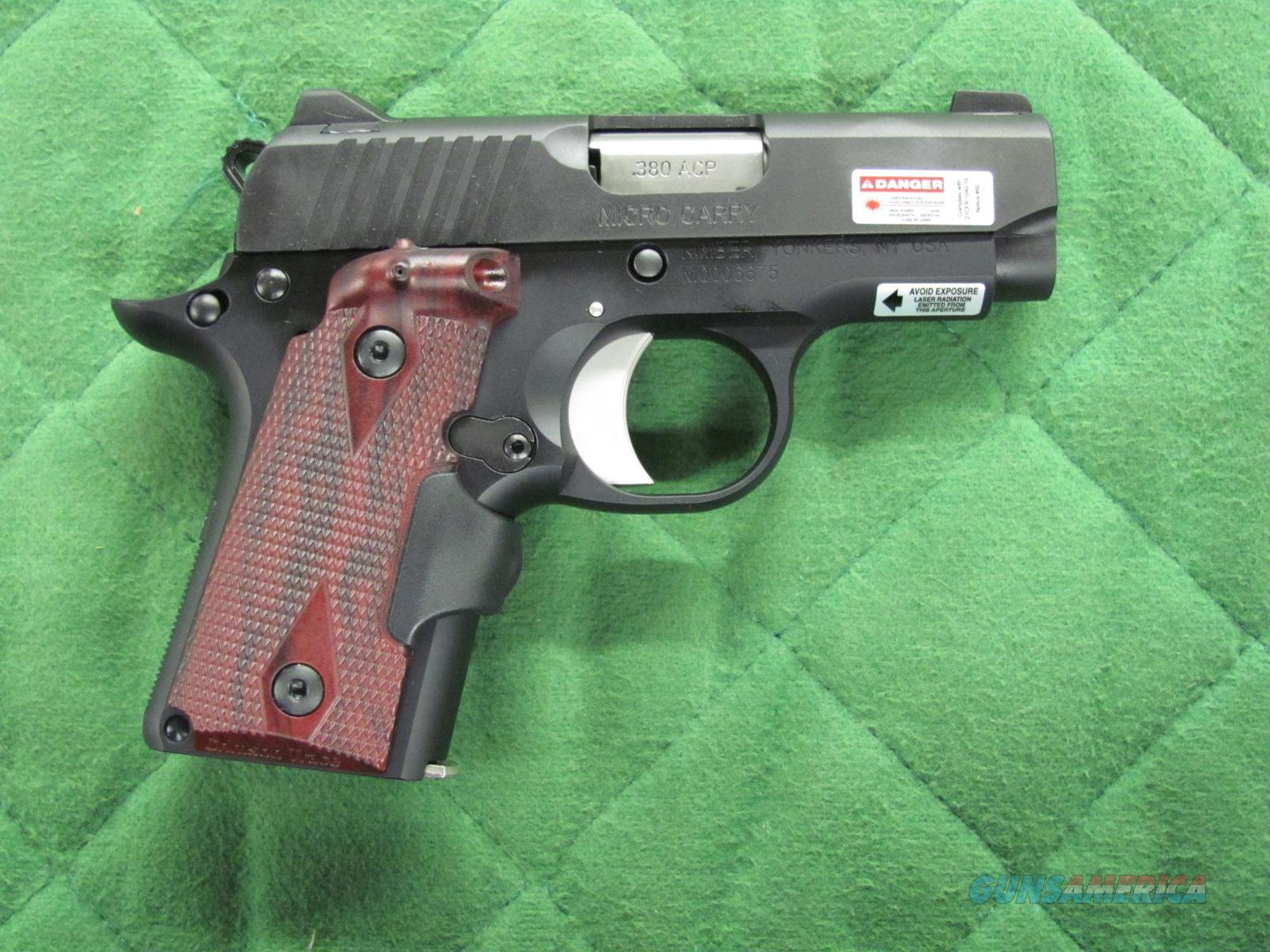 Kimber Micro Carry w/ Rosewood Laser Grips 380 acp  **NEW**  Guns > Pistols > Kimber of America Pistols