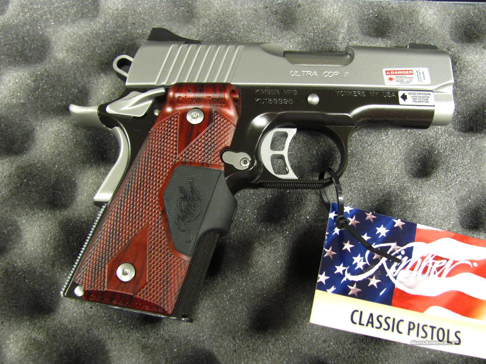Kimber Ultra CDP II 45 ACP with Laser Grips  **NEW**  Guns > Pistols > Kimber of America Pistols