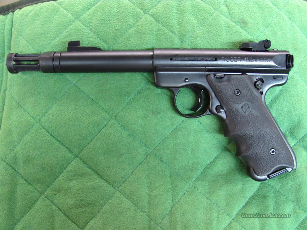 Ruger Mark III GFS Target with AC556 Flashider 22 LR  **NEW**  Guns > Pistols > Ruger Semi-Auto Pistols > Mark I & II Family