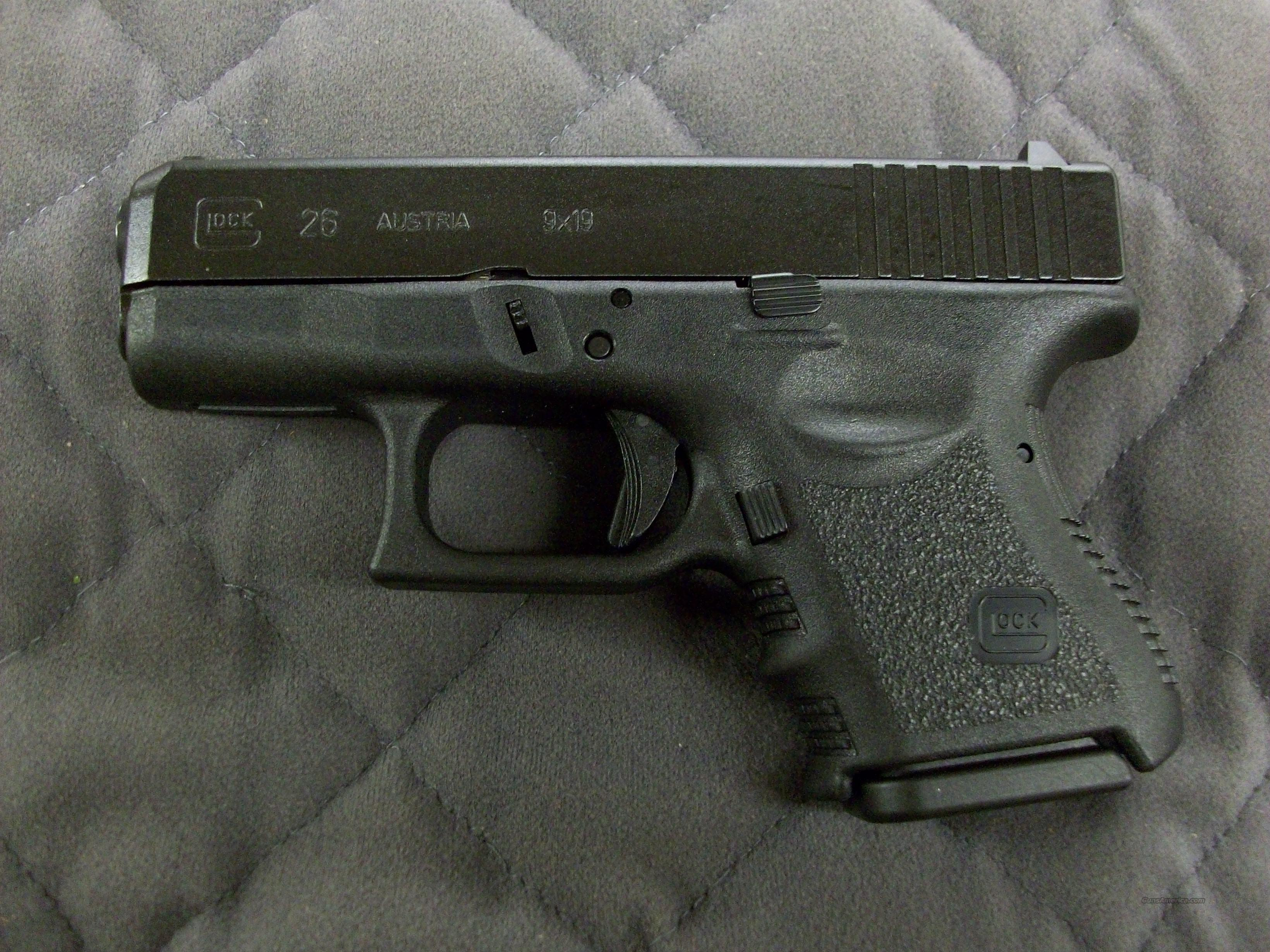 Glock 26 9 mm Subcompact  **NEW**  Guns > Pistols > Glock Pistols > 26/27