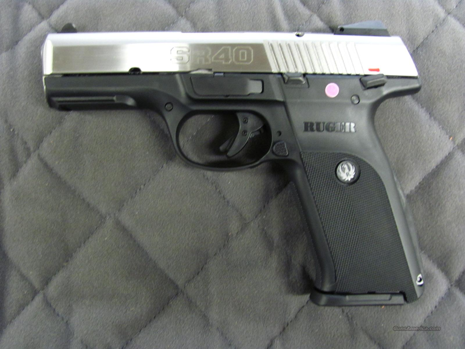 Ruger SR40 Stainless 40 S&W  **NEW**  Guns > Pistols > Ruger Semi-Auto Pistols > SR9 & SR40