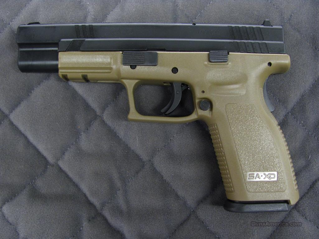 Springfield XD Tactical 9 mm Dark Earth **NEW**  Guns > Pistols > Springfield Armory Pistols > XD (eXtreme Duty)