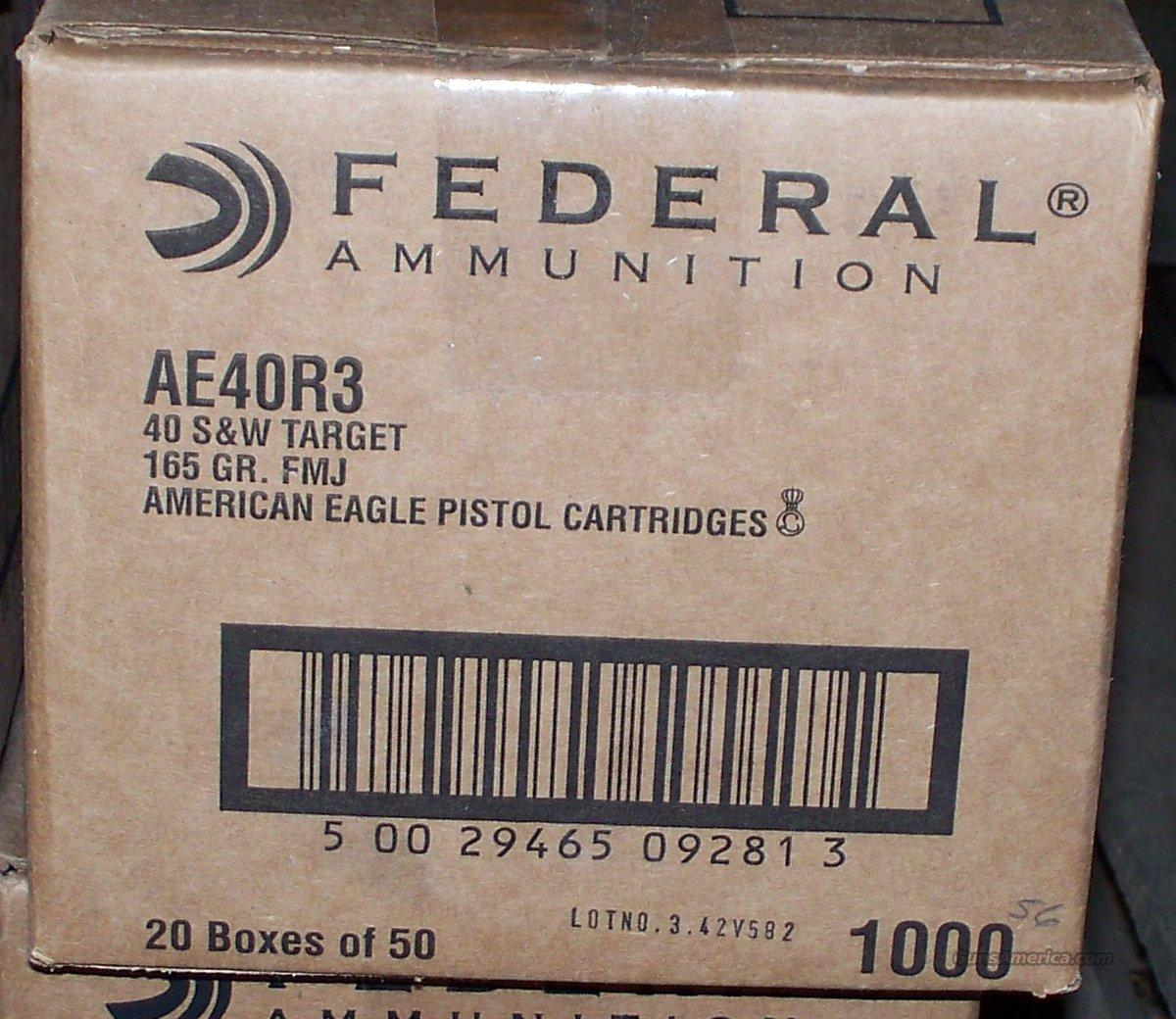 Federal .40 R3 S&W 165 Grain FMJ 1000 Rounds  Non-Guns > Ammunition