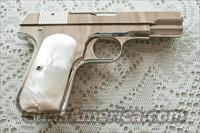 Colt 1908 Nickel .380, early Colt pearl grips  Guns > Pistols > Colt Automatic Pistols (.25, .32, & .380 cal)