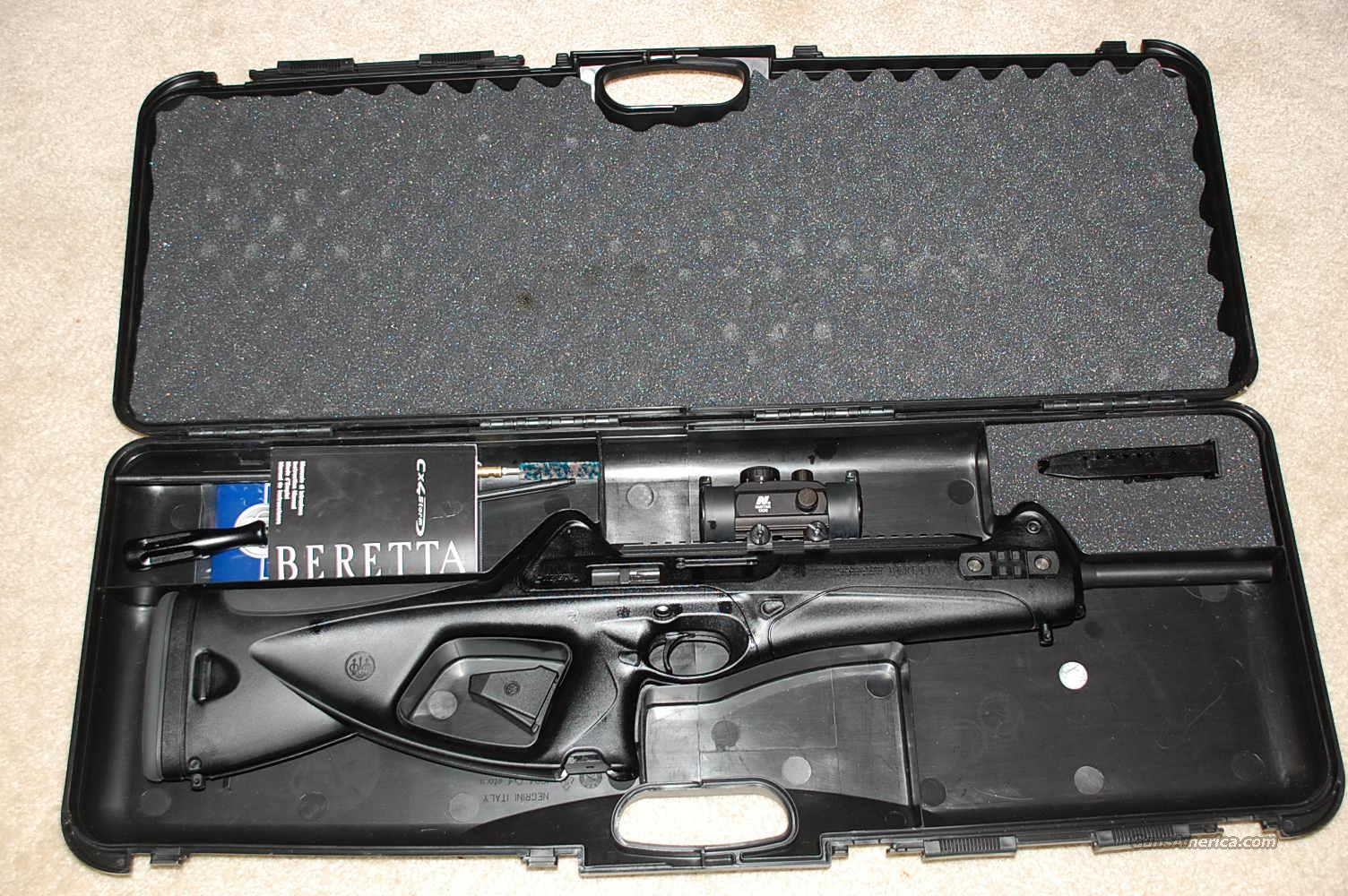 Beretta CX4 Storm 9mm Rifle w/ 1X Red Dot Scope  Guns > Rifles > Beretta Rifles > Storm
