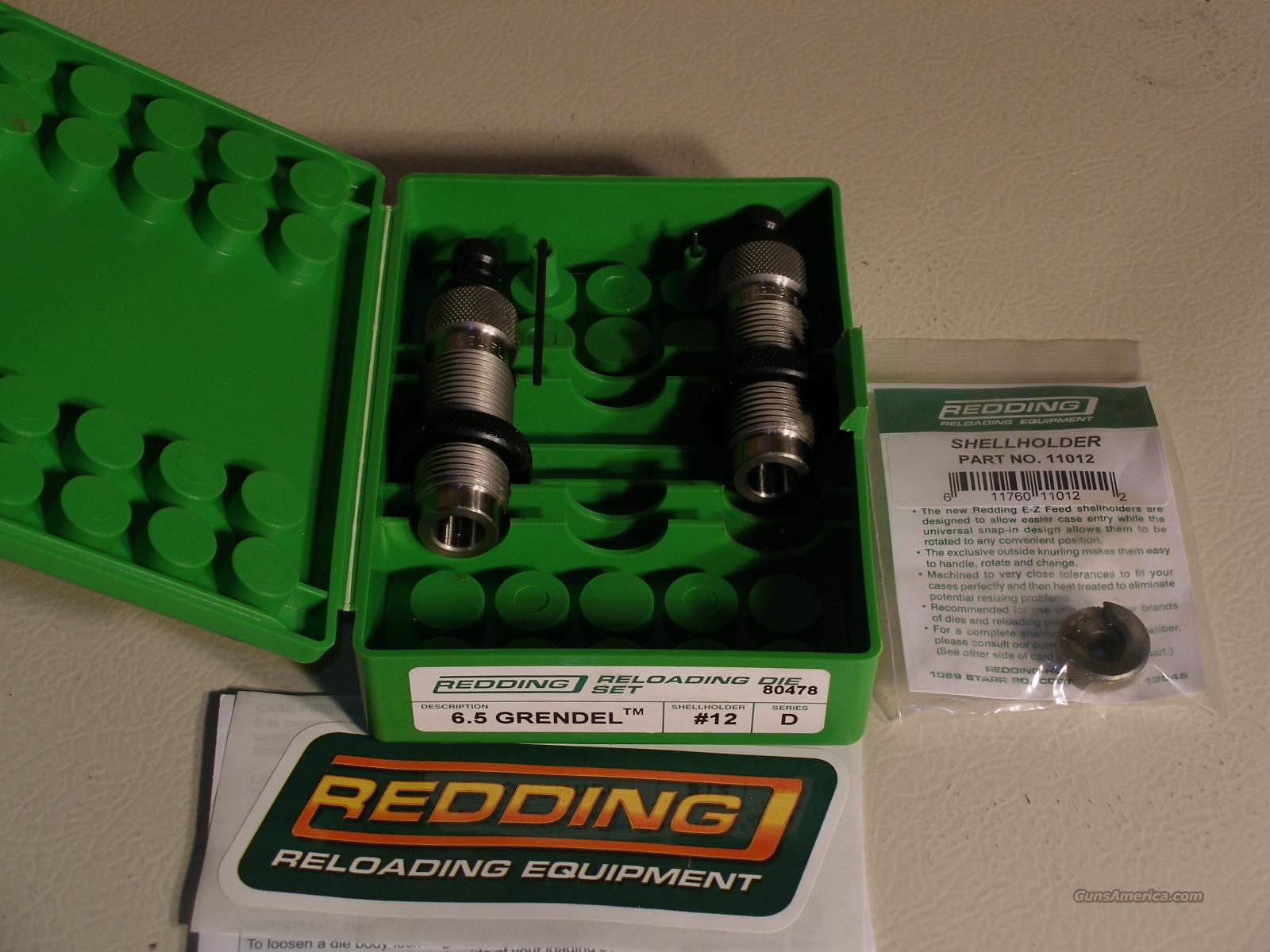 Redding 6.5 Grendel Dies & Shell Holder  Non-Guns > Reloading > Equipment > Metallic > Dies