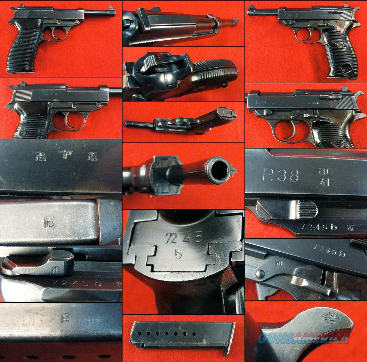 Walther P38 AC41 High Polish  Guns > Pistols > Military Misc. Pistols Non-US