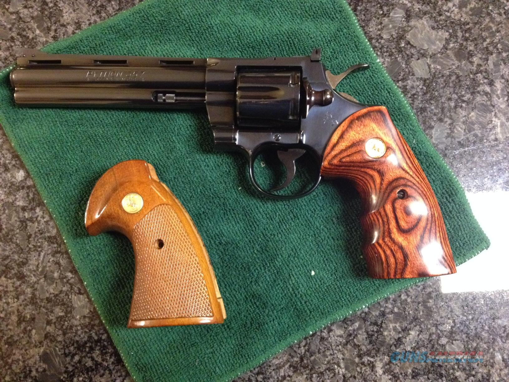 "1974 Colt Python .357 Magnum 6"" blue, very good condition  Guns > Pistols > Colt Double Action Revolvers- Modern"
