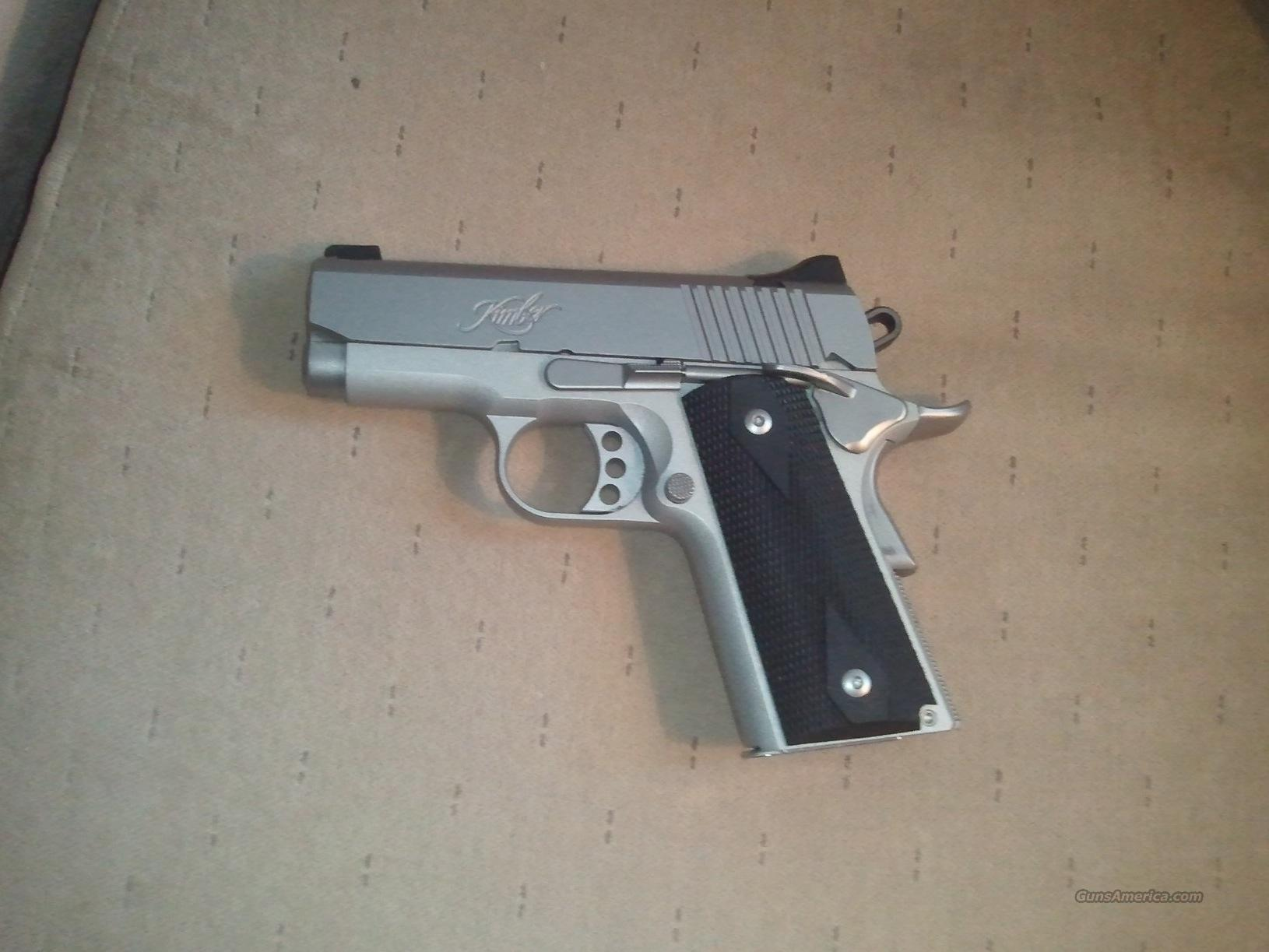 Kimber Pro carry II..stainless....100 rounds fired   Guns > Pistols > Kimber of America Pistols