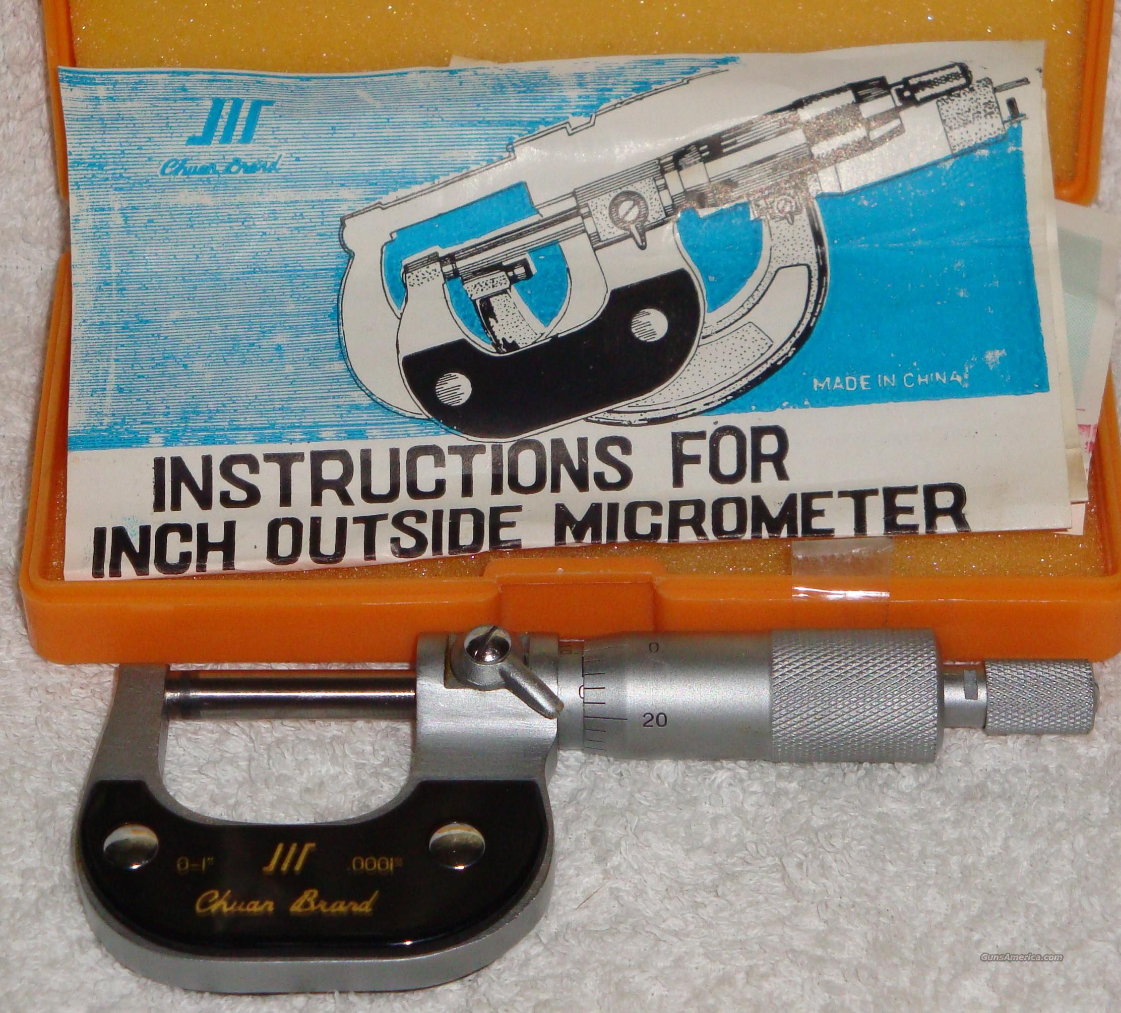 Out side Micrometer New In box with papers  Non-Guns > Gunsmith Tools/Supplies