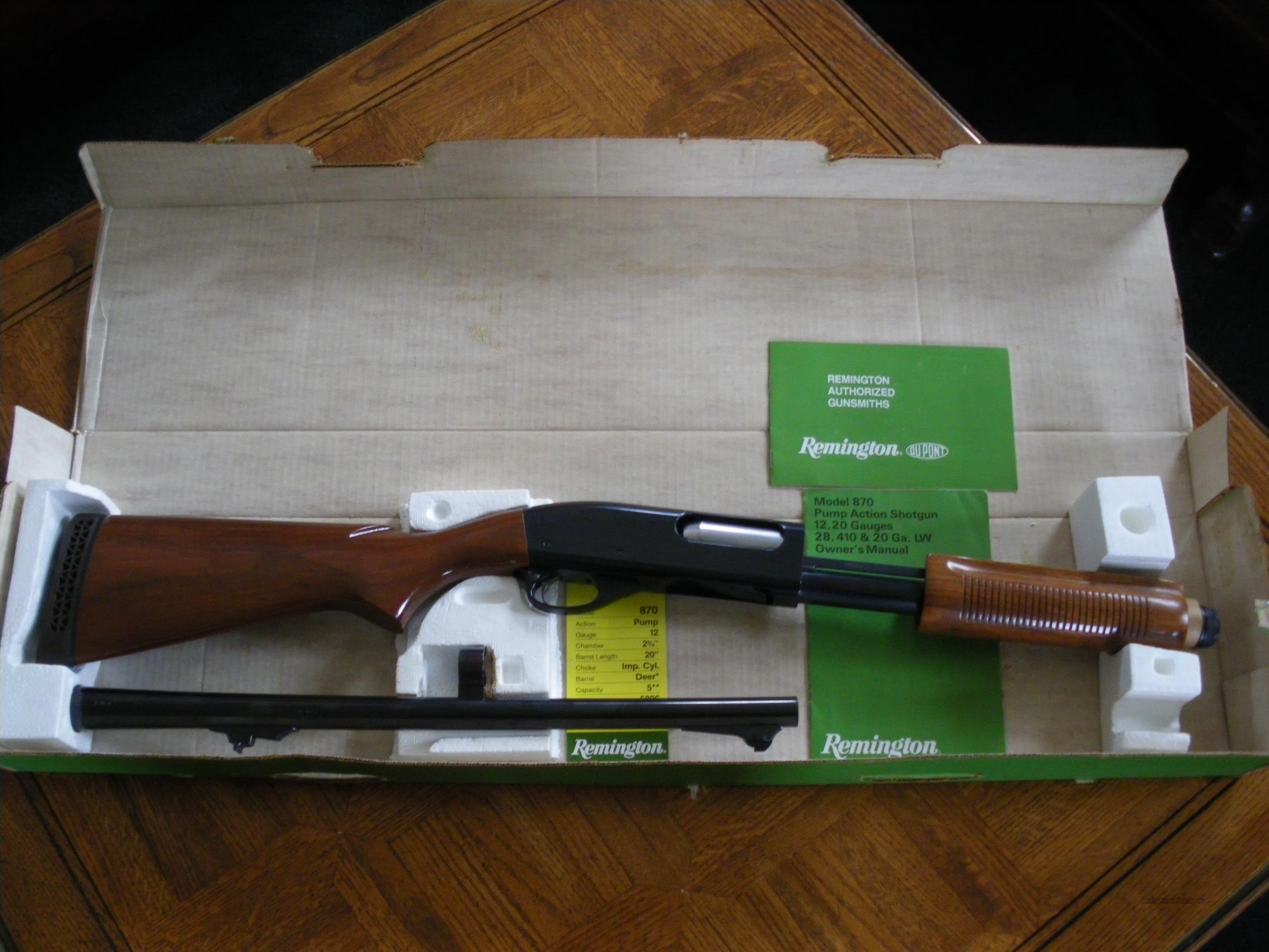 Remington 870 Wingmaster  Guns > Shotguns > Remington Shotguns  > Pump > Hunting