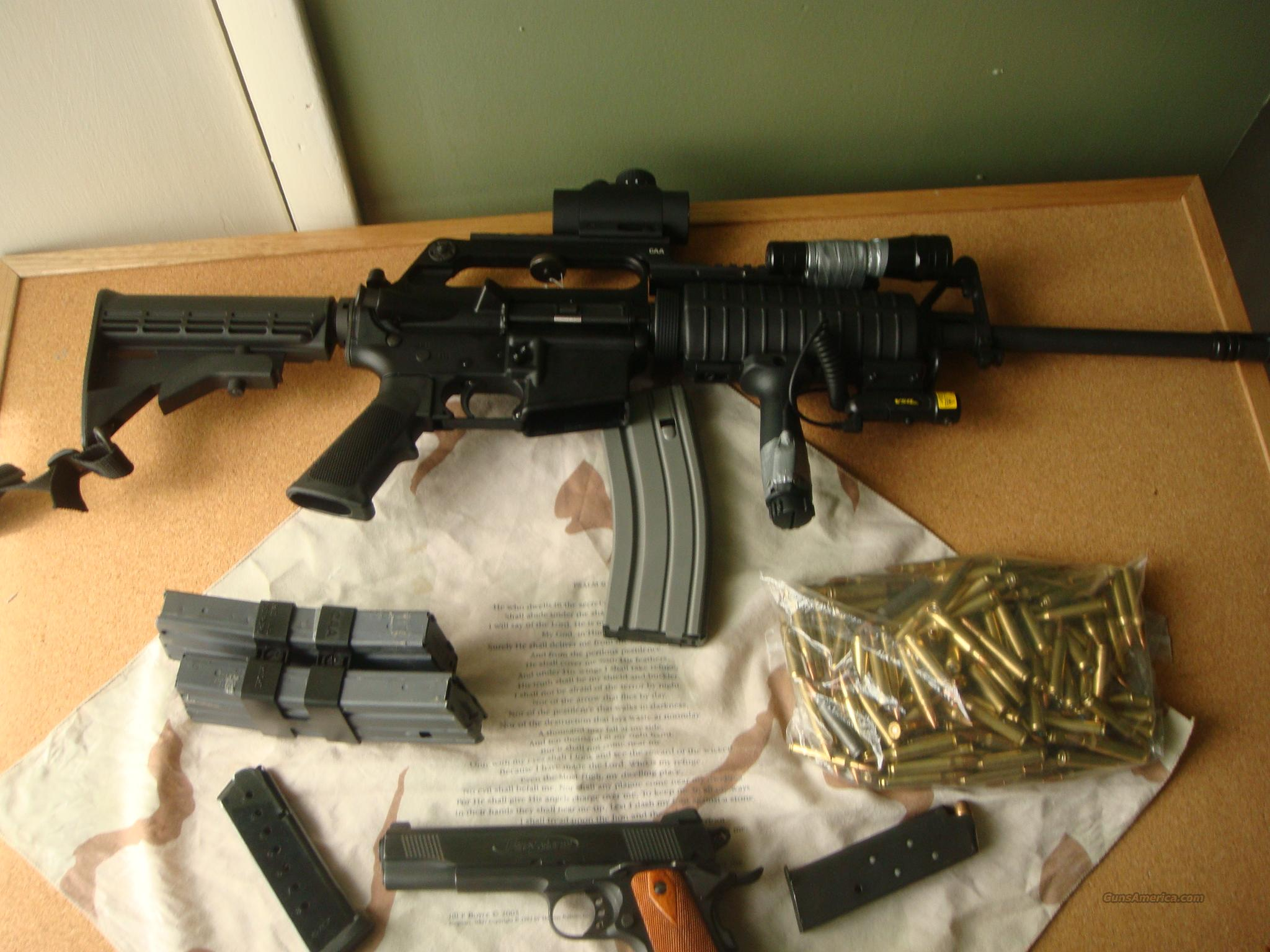 ar 15 olympic arms m-4 and a metro arms 45 acp firestorm  Guns > Rifles > AR-15 Rifles - Small Manufacturers > Complete Rifle