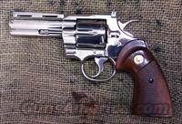 Colt Python, 4 inch barrel, Nickel  Guns > Pistols > Colt Double Action Revolvers- Modern