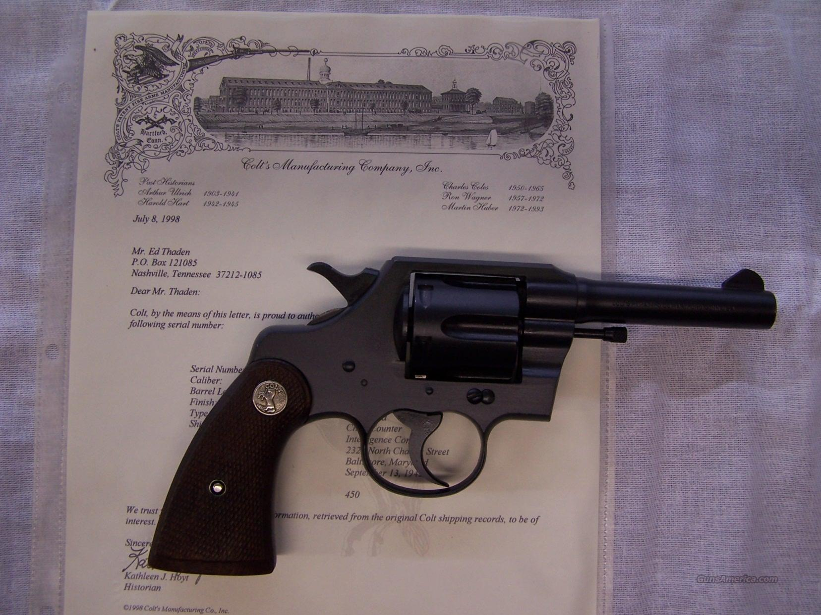 Colt Commando 38 Spl WWII Parkerized  Guns > Pistols > Colt Double Action Revolvers- Pre-1945