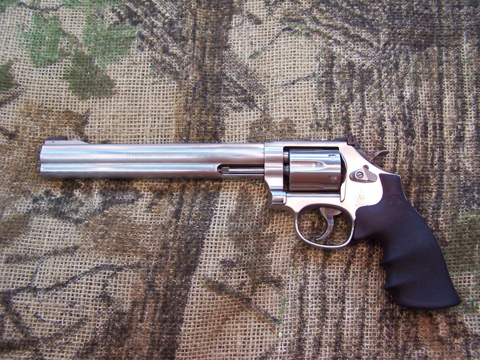 "Smith & Wesson Md. 647 Stainless 17 HMR As New 8 3/8""  Guns > Pistols > Smith & Wesson Revolvers > Full Frame Revolver"