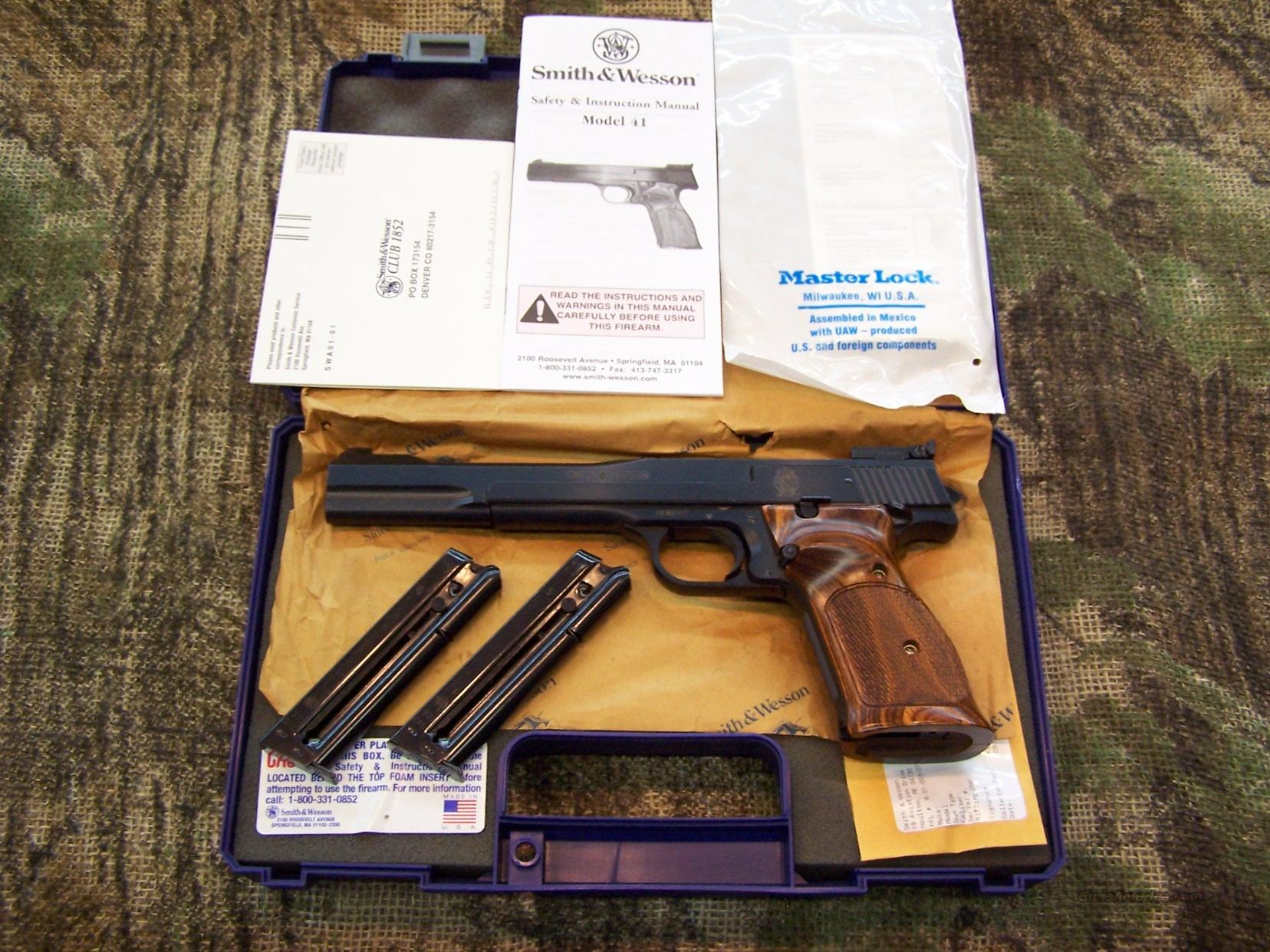 "Smith & Wesson Md 41 Target 22 LR New Unfired 7""  Guns > Pistols > Smith & Wesson Pistols - Autos > Steel Frame"