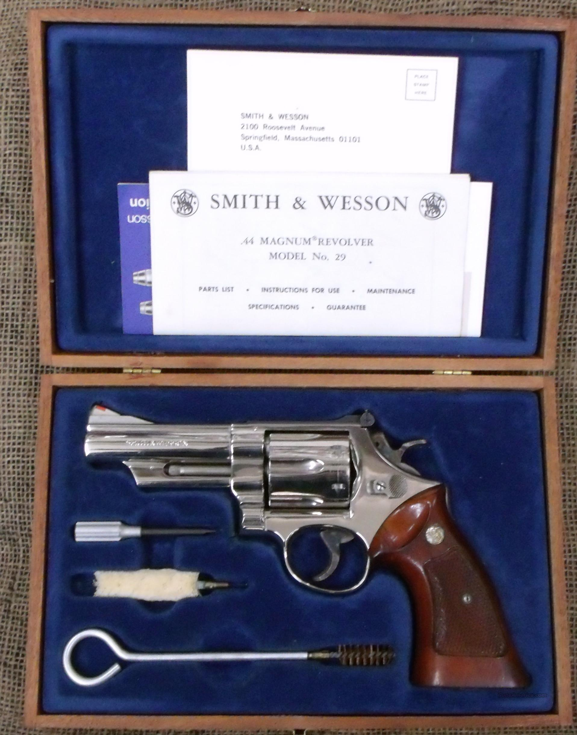 SMITH&WESSON Model 29-2, Nickel, 4 inch Barrel  Guns > Pistols > Smith & Wesson Revolvers > Full Frame Revolver
