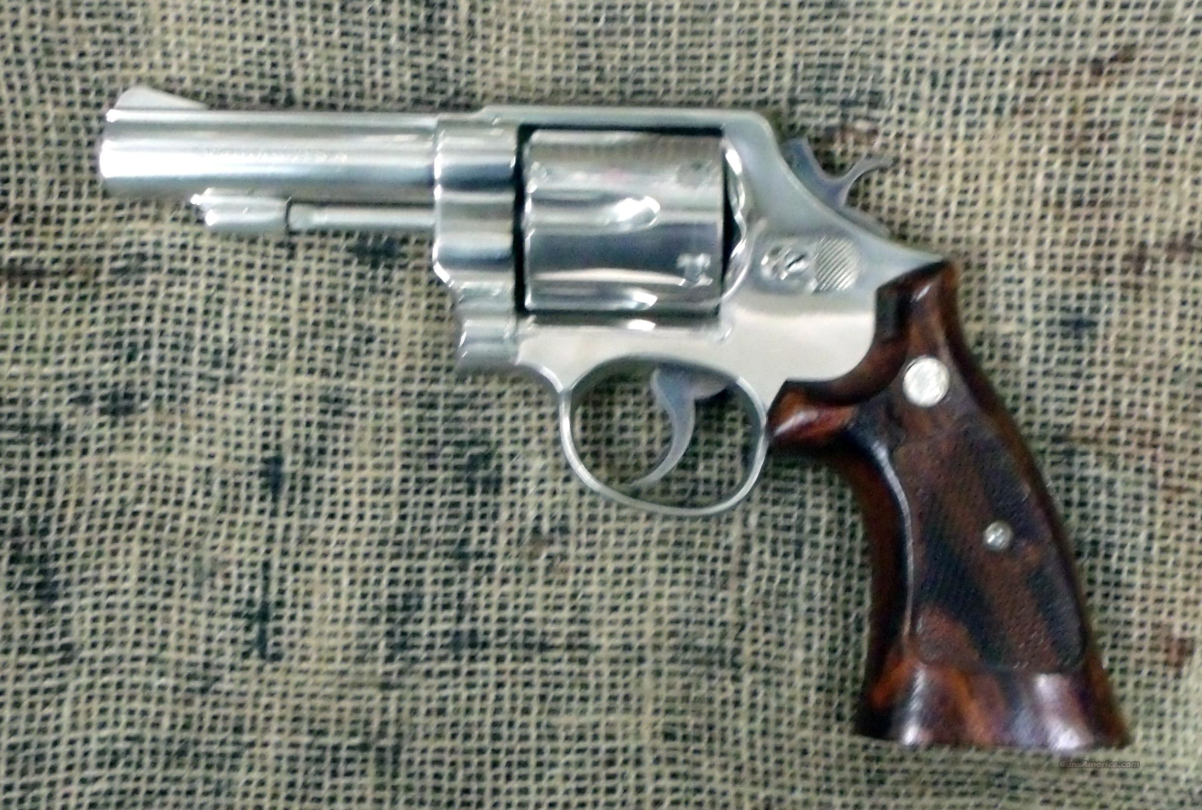 SMITH&WESSON Model 58 Nickel, 41 Mag. Cal.   Guns > Pistols > Smith & Wesson Revolvers > Full Frame Revolver