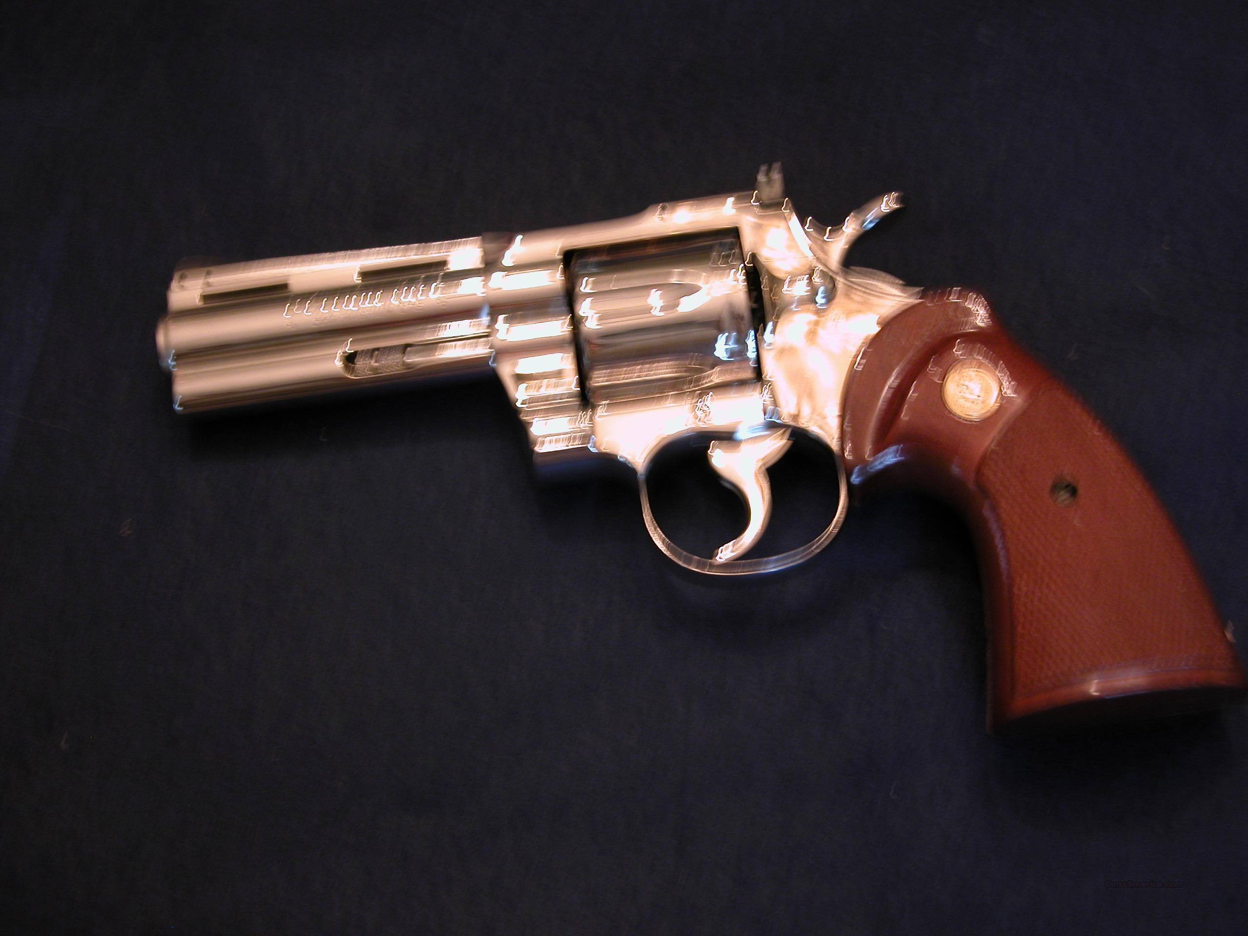 Colt Python .357 mag Nickel  Guns > Pistols > Colt Double Action Revolvers- Modern