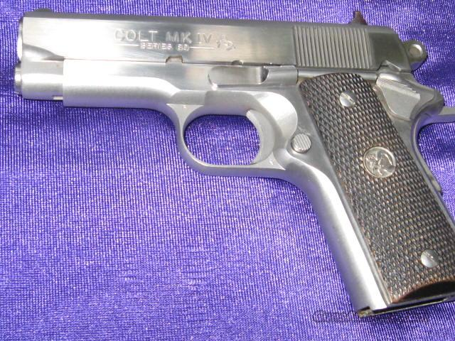 Colt .45 ACP Mark IV Series 80 Stainless Officers Model  Guns > Pistols > Colt Automatic Pistols (1911 & Var)