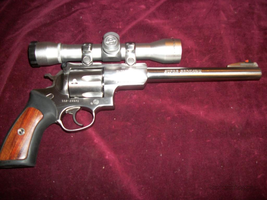 Ruger Super Redhawk Stainless 44 Mag Simmons Prohunter Scope  Guns > Pistols > Ruger Double Action Revolver > Redhawk Type