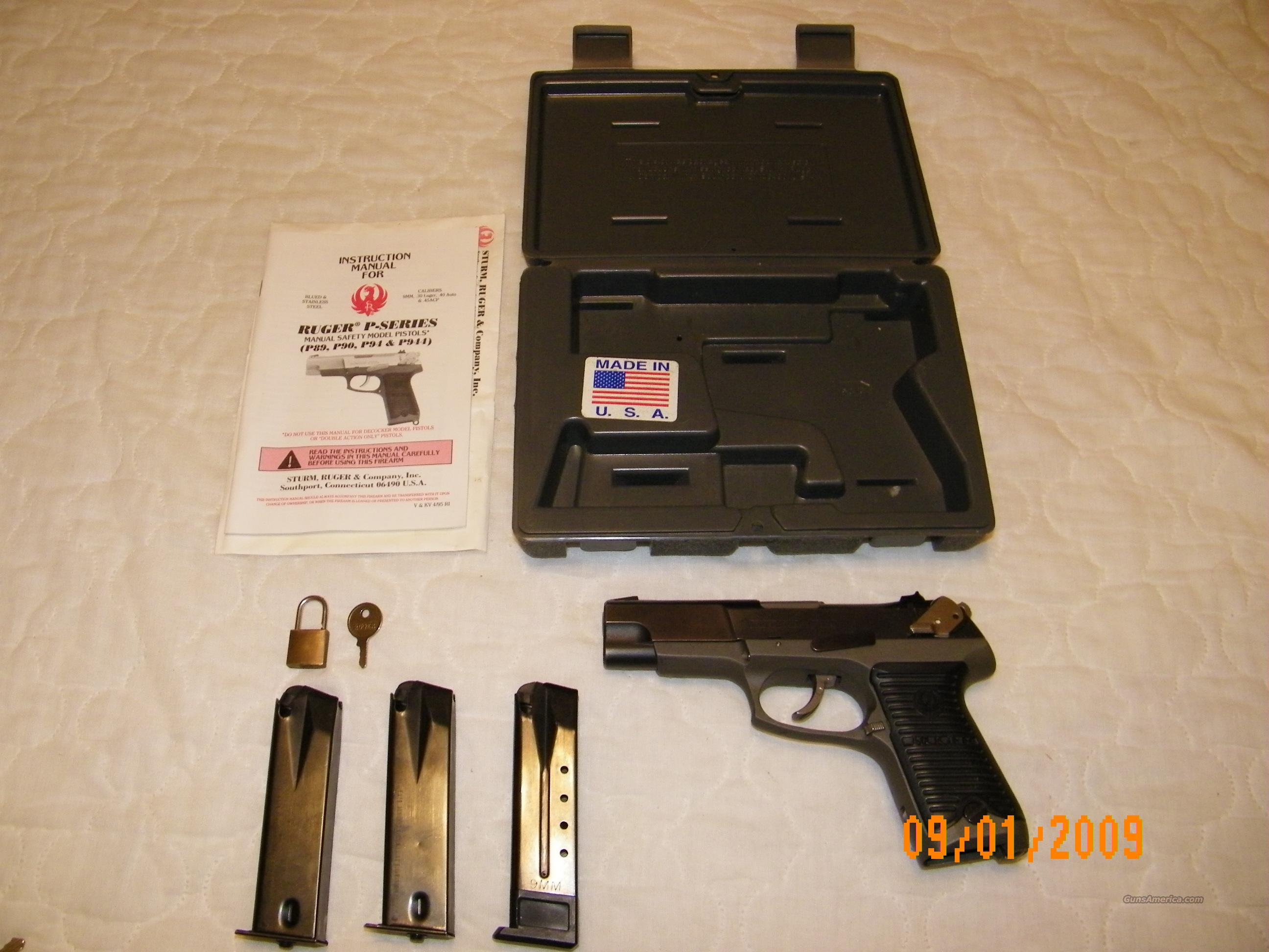 Ruger P89 Two Tone with 3 magazines  Guns > Pistols > Ruger Semi-Auto Pistols > P-Series