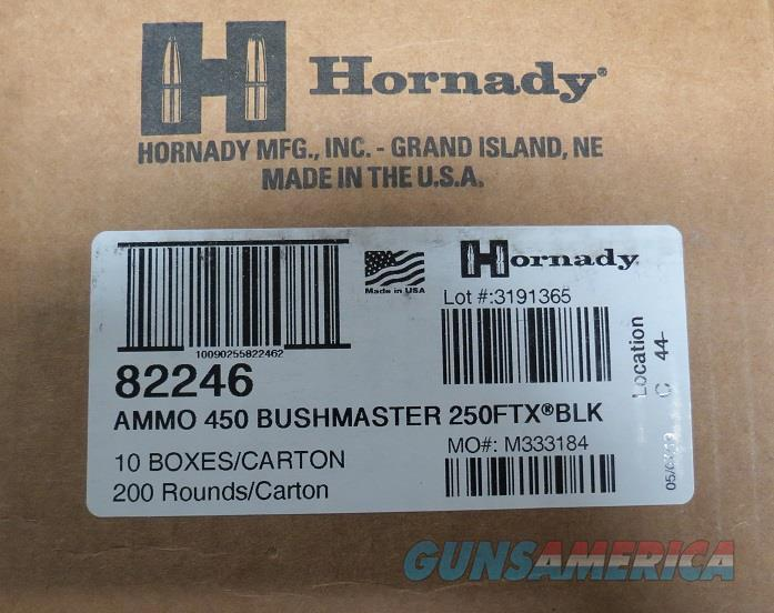 Hornady 450 BM Black 250gr FTX, Case of 200 rds (10bx of 20)  Non-Guns > Ammunition