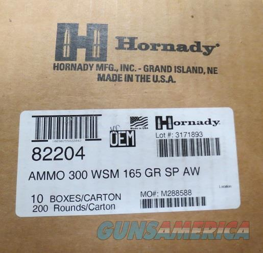 300 WSM Hornady AW 165 gr Case of 200 rds (10bx of 20)  Non-Guns > Ammunition
