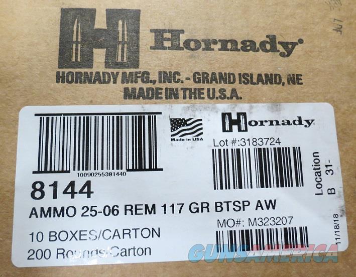 25-06 Hornady AW 117 gr Case of 200 rds (10bx of 20)  Non-Guns > Ammunition
