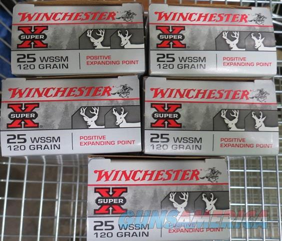 25 WSSM 120 gr 100 rds (5bx of 20)  Non-Guns > Ammunition