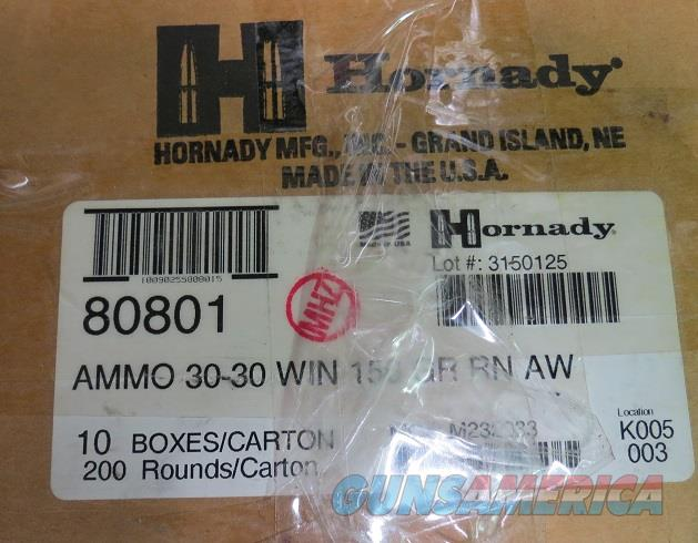 30-30 Hornady AW 150 gr Case of 200 rds (10bx of 20)  Non-Guns > Ammunition