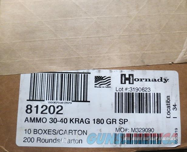 Hornady 30-40 KRAG 180 gr Case of 200 rds (10bx of 20)  Non-Guns > Ammunition
