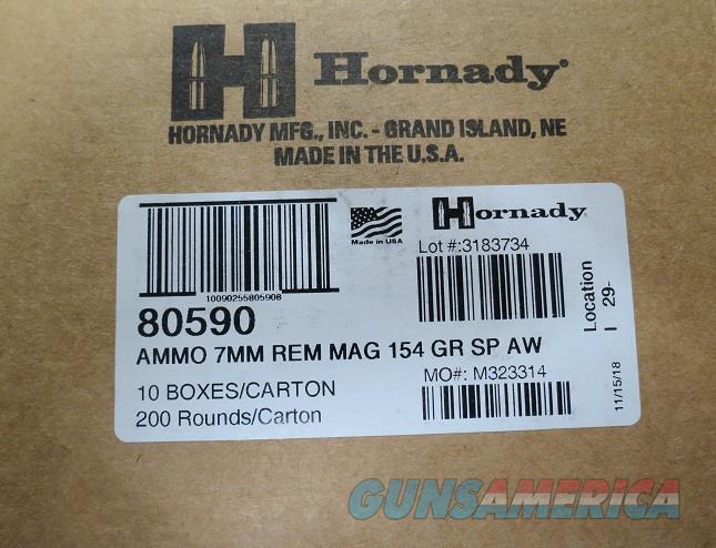 7mm MAG Hornady AW 154 gr Case of 200 rds (10bx of 20)  Non-Guns > Ammunition