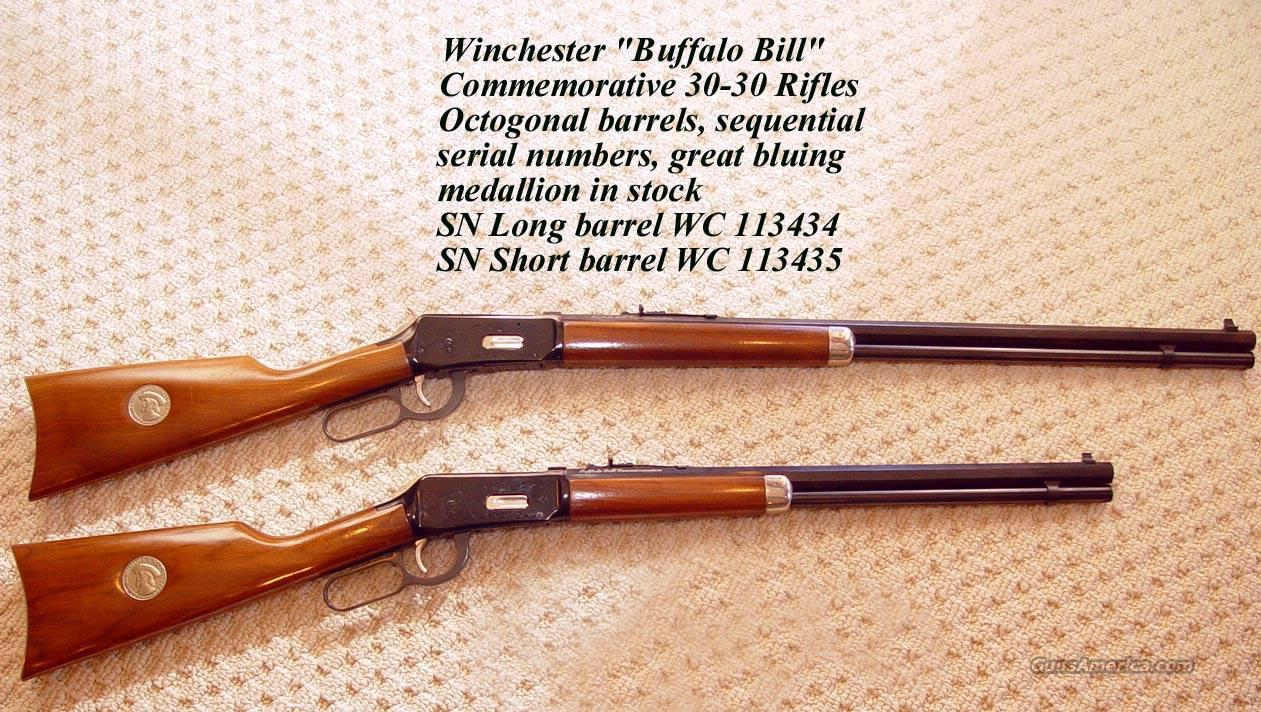 Buffalo Bill Cody Winchester Model 94 30-30 Pair of Rifles  Guns > Rifles > Winchester Rifle Commemoratives