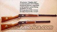 Buffalo Bill Cody Winchester Model 94 30-30 Pair of Rifles  Winchester Rifle Commemoratives