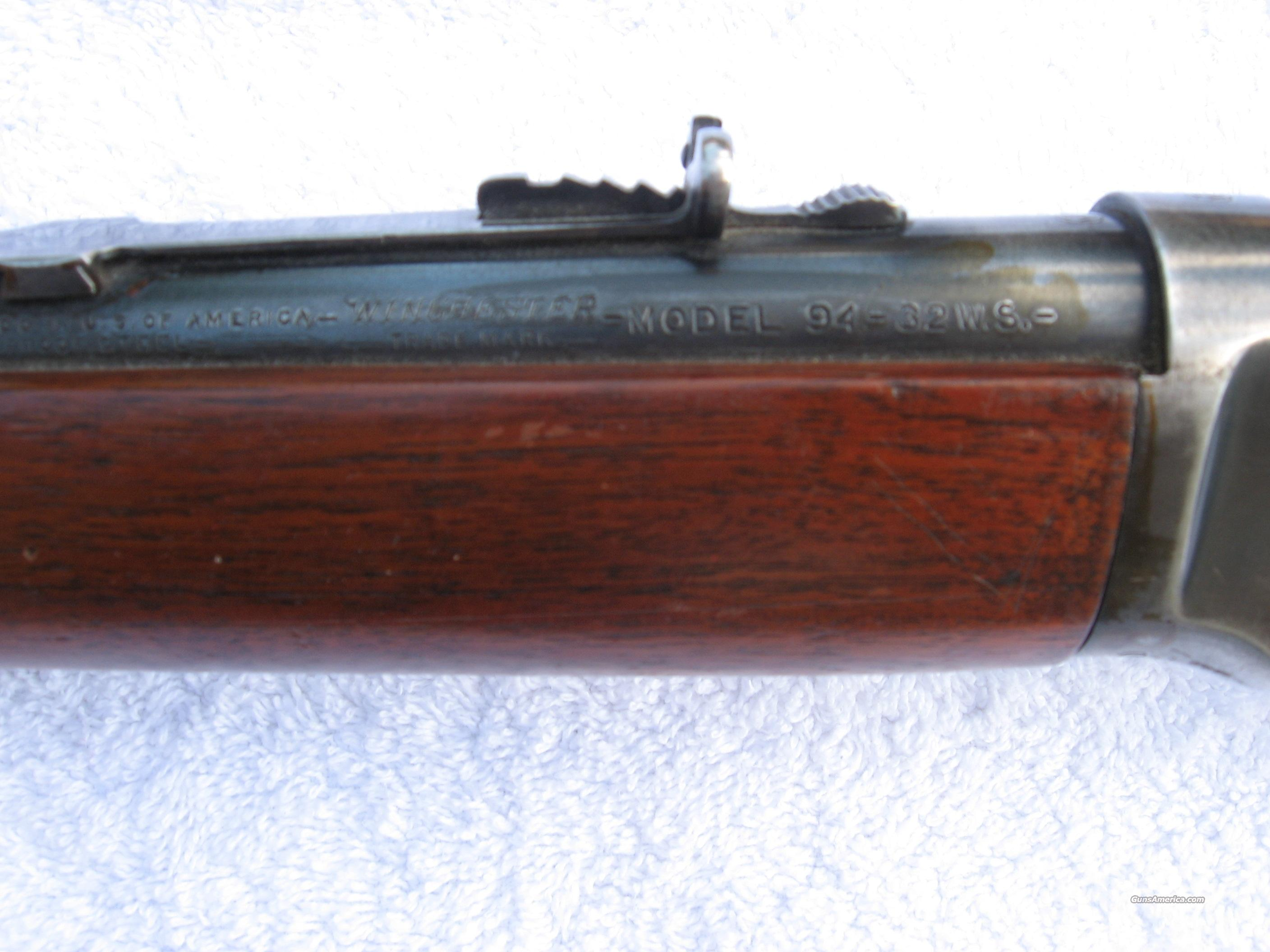Winchester 94 32WS  Guns > Rifles > Winchester Rifles - Modern Lever > Other Lever > Pre-64