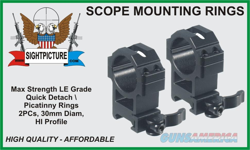 SCOPE MOUNTING RINGS 30MM HI PROFILE LE GRADE  Non-Guns > Scopes/Mounts/Rings & Optics > Mounts > Tactical Rail Components