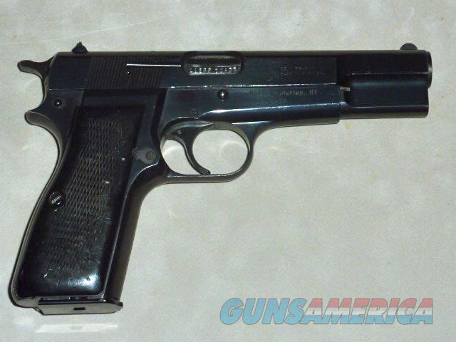 Belgian Browning Hi Power, 9mm.  Guns > Pistols > Browning Pistols > Hi Power