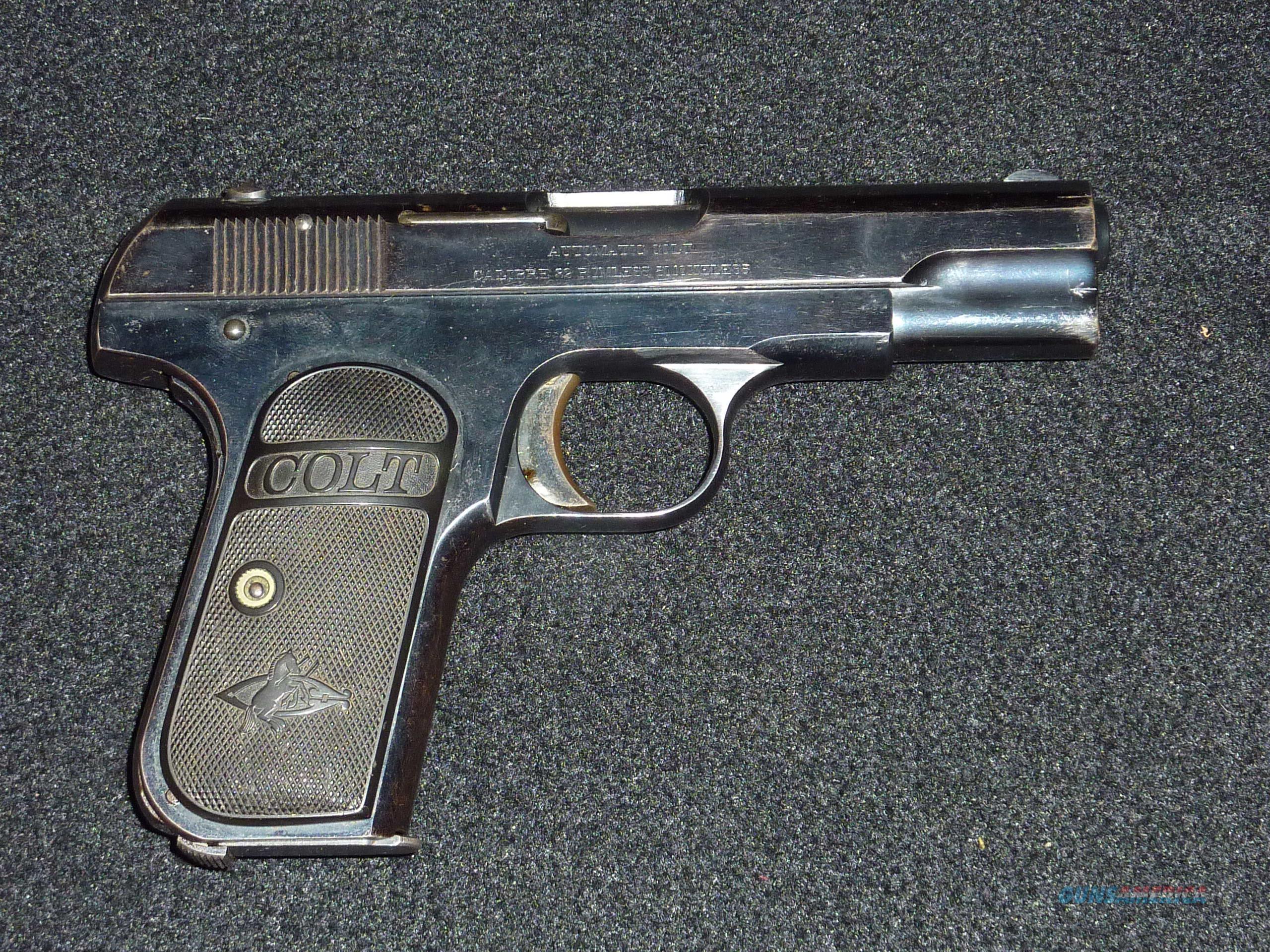 Colt M-1903, .32 ACP  Guns > Pistols > Colt Automatic Pistols (.25, .32, & .380 cal)