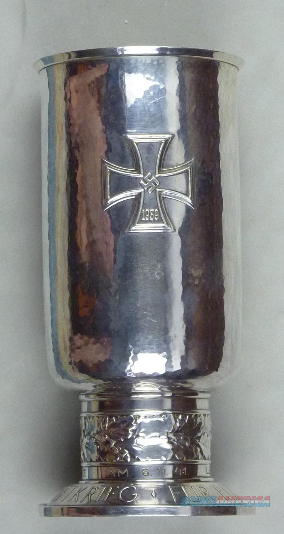 Historic Silver Luftwaffe Honor Goblet  Non-Guns > Military Art > WW II