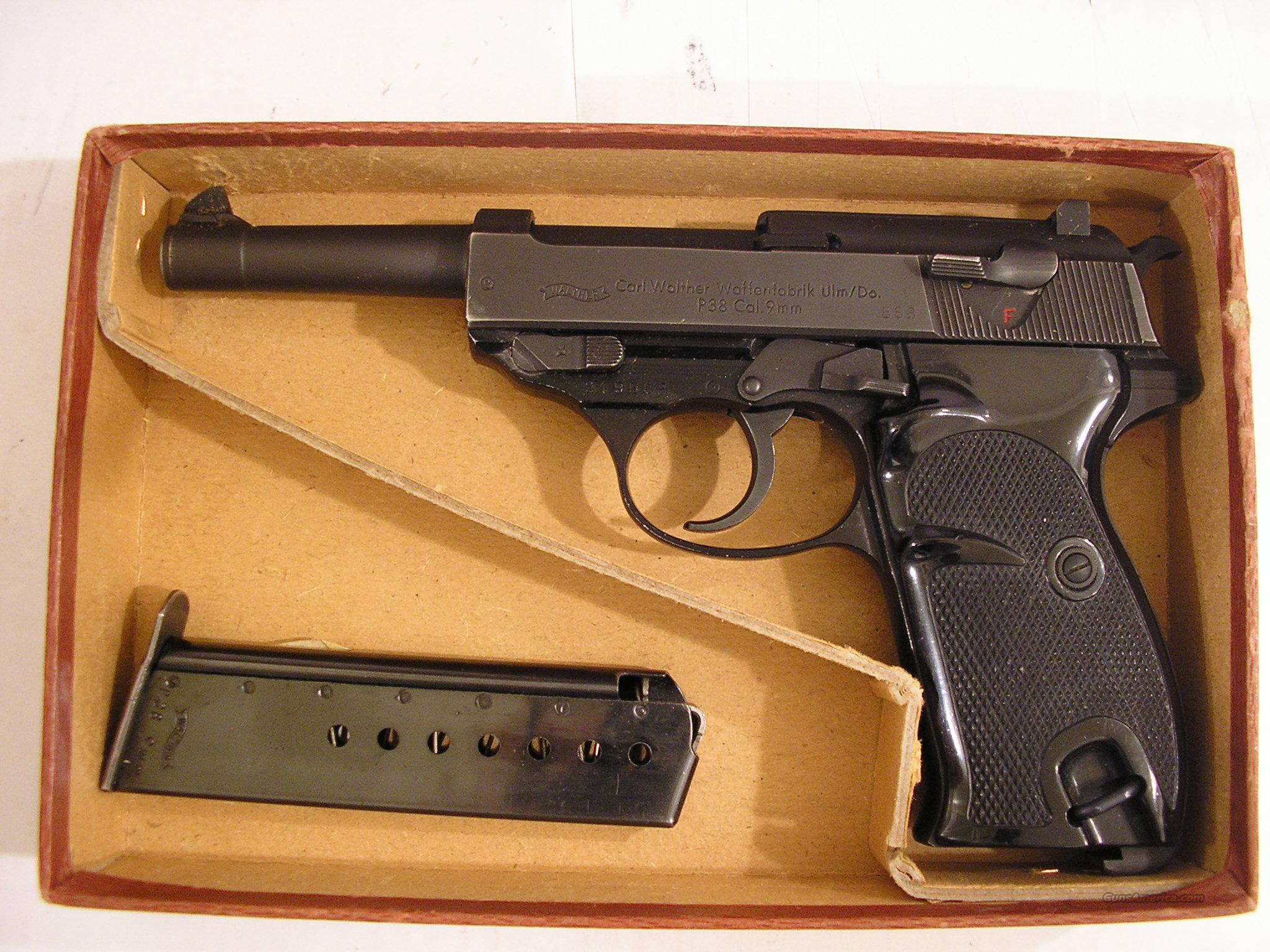 WALTHER POST WWII P-38 9MM PISTOL  Guns > Pistols > Walther Pistols > Post WWII > Large Frame Autos