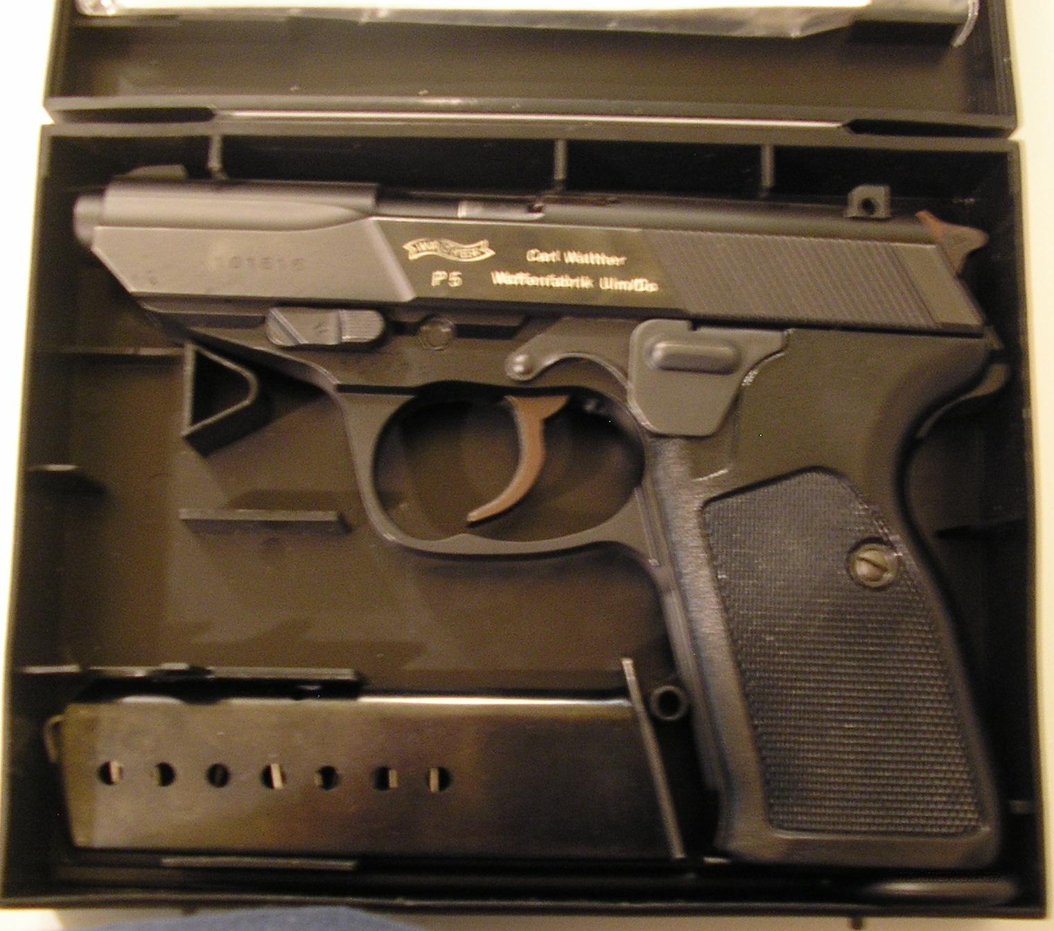 WALTHER P5 SEMI AUTO 9MM PISTOL  Guns > Pistols > Walther Pistols > Post WWII > Large Frame Autos