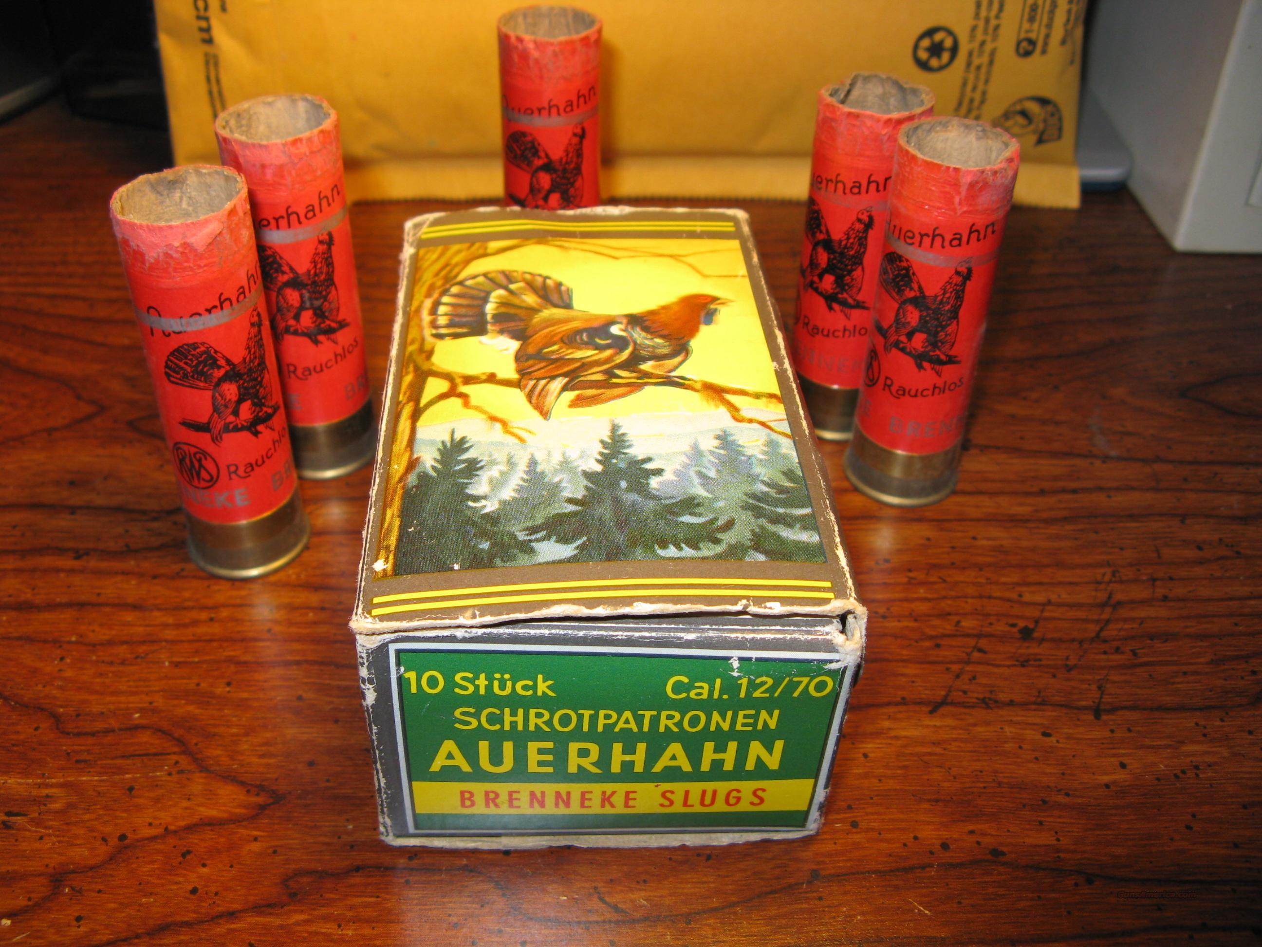 ULTRA RARE GERMANY SHOTGUN SHELL BOX WITH TURKEY  Non-Guns > Collectible Cartridges
