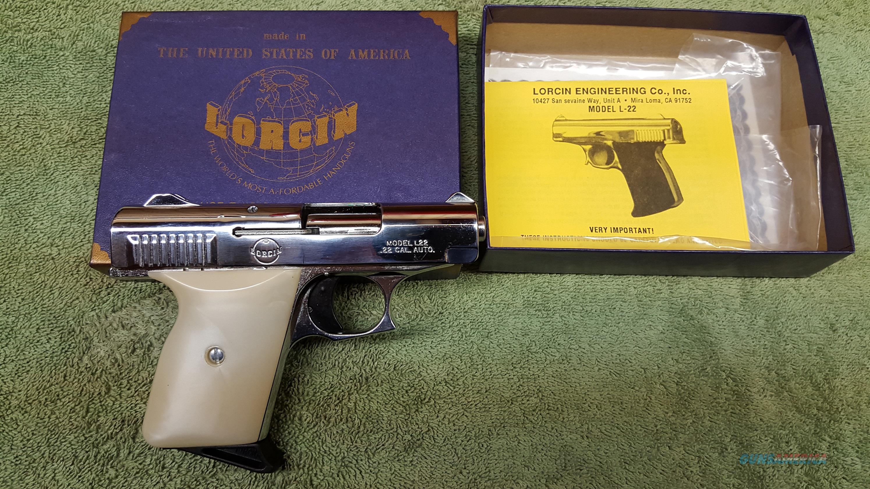 NIB lorcin L-22 Semi-auto .22 LR Pistol  Guns > Pistols > Lorcin Pistols
